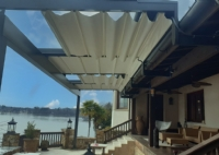 Open Motorized Awning